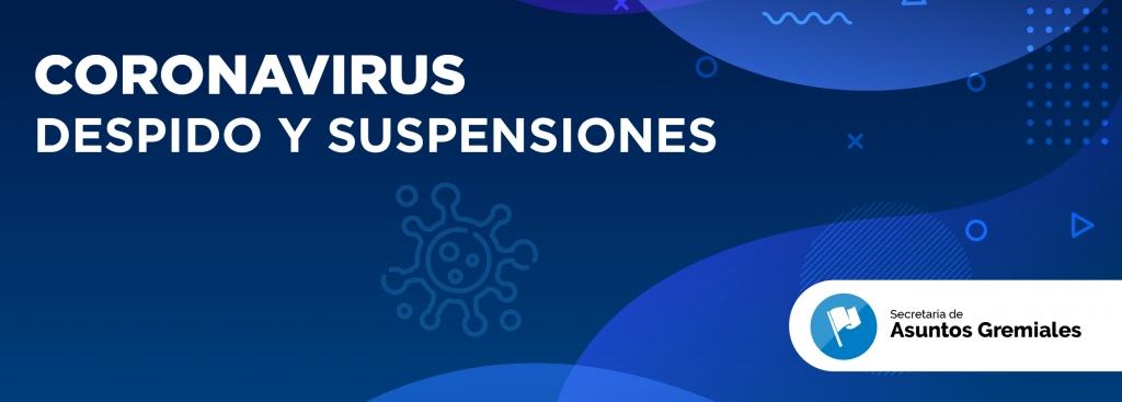 Prohibición de suspensiones y despidos