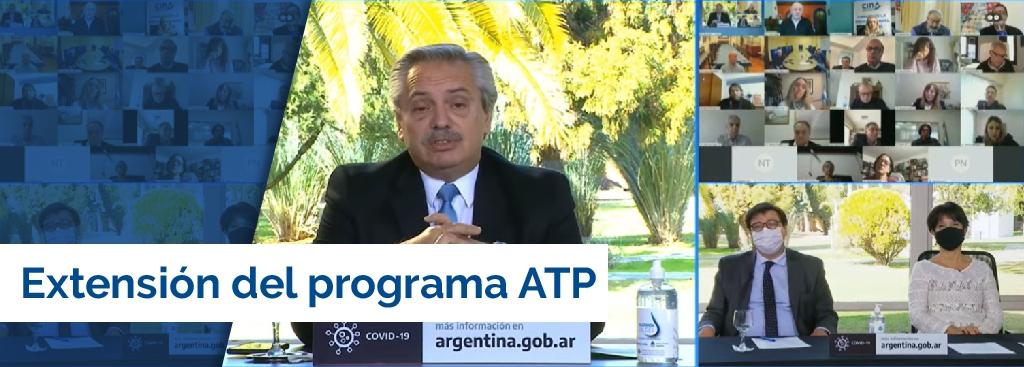Comercio presente en el anuncio de la extensión del programa ATP