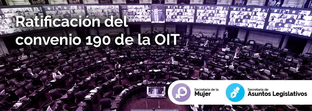 Ratificación del Convenio 190 de la OIT sobre violencia y acoso en el ámbito del trabajo