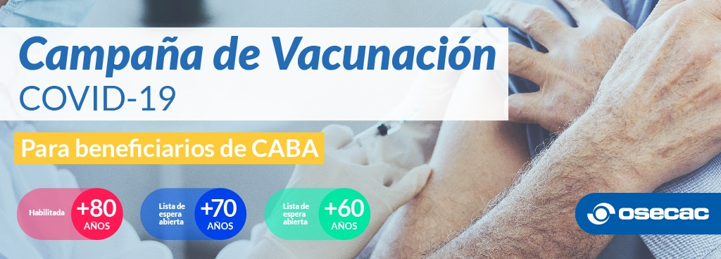 OSECAC continúa con la Campaña de Vacunación contra el Covid-19